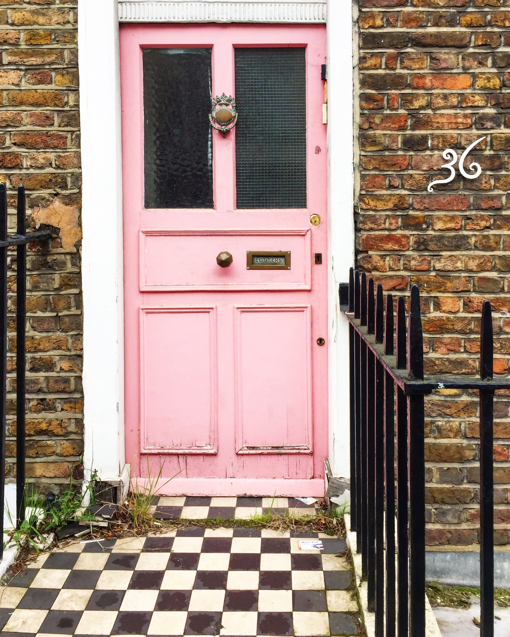 This Marylebone door has a killer combo of the perfect shade of pink and black u0026 white tiles but I think what makes this door special is the whimsical ... & The top 8 pink doors of London u2013 London is Pink